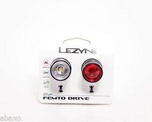 Lezyne FEMTO Drive Combo Front & Rear Bicycle Light, Multi Mode