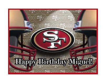 49ers Edible Cake Topper](49ers Cake)