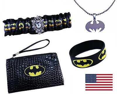 Batgirl Halloween Costume Accessories (Batman Batgirl 4pc Sexy Womens Juniors Halloween Costume Accessories Set 2)