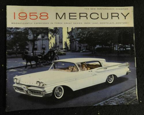 1958 MERCURY SALES BROCHURE CATALOG JUMBO