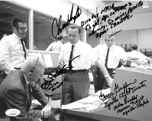 APOLLO 11 NASA  Directors signed 8x10 4 -sig Gerry Griffin, Milton Windler - JSA
