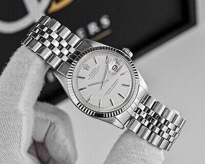 Rolex Datejust Ref.1601 36mm Watch With Jubilee Bracelet White Gold Fluted Bezel