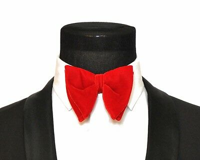 - Mens FERUCCI Oversized Bow Tie - Red Velvet Bowtie, Mens big bow tie