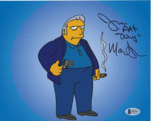 JOE MANTEGNA SIGNED AUTHENTIC 'THE SIMPSONS' FAT TONY 8X10 PHOTO BECKETT COA BAS