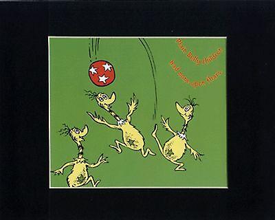 DR. SEUSS~STAR-BELLY SNEETCHES~8 X 10 Mat Print~PLAY BALL~PLAIN BELLY CHILDREN