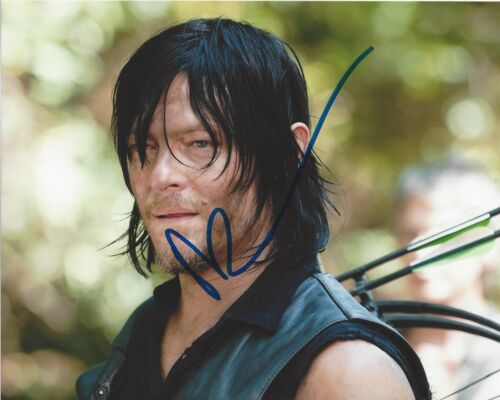 ACTOR NORMAN REEDUS SIGNED 'THE WALKING DEAD' 8x10 PHOTO 5 W/COA DARYL DIXON