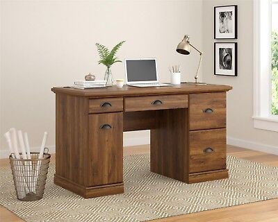Computer Desk Home Office Work Student Desks Storage Table Furniture Study Oak