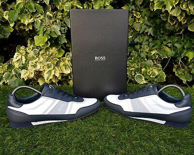 ❤ BNWB & Genuine Hugo Boss ® Lighter Lowp Nyrs in Open Blue Trainers UK Size (Hugo Boss In Uk)