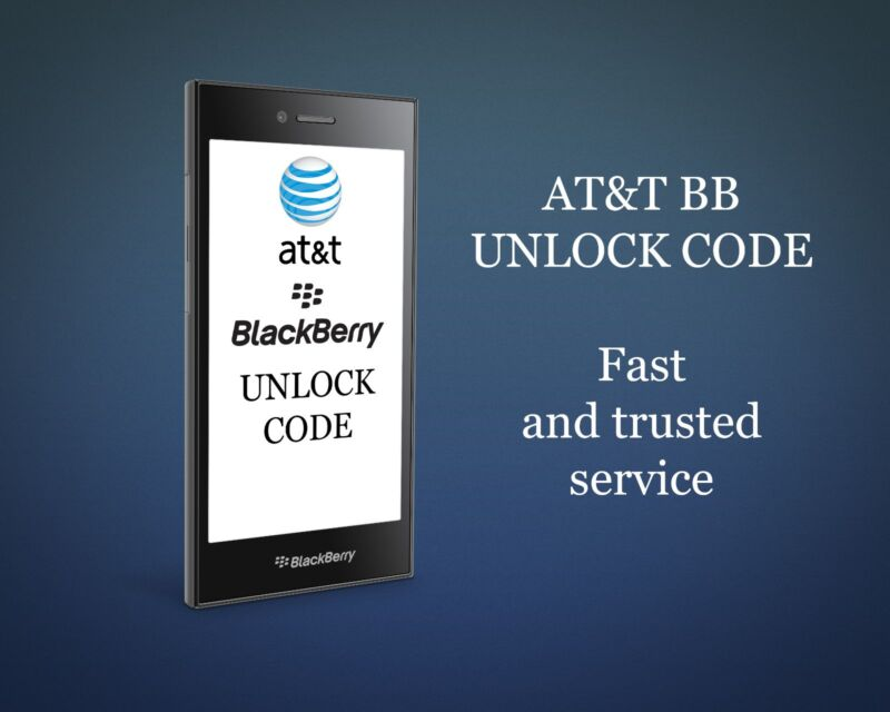AT&T BLACKBERRY FAST UNLOCK CODE/SERVICE ALL MODELS BOLD CURVE 9900 Z10 Q10