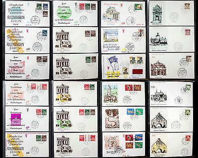 BERLIN - FDC - Ersttagsbriefe - Briefmarken, Große Sammlung 50er 60er 70er Jahre