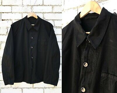 Vintage Black Chore Worker Jacket Cotton Work Jackets - EU Workwear XS S M L XL
