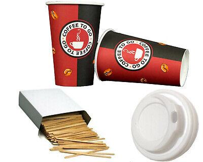 Kaffee Hartpapier + Deckel Coffee to go Becher 0,2l/0,3l Pappbecher Kaffeebecher Becher Deckel