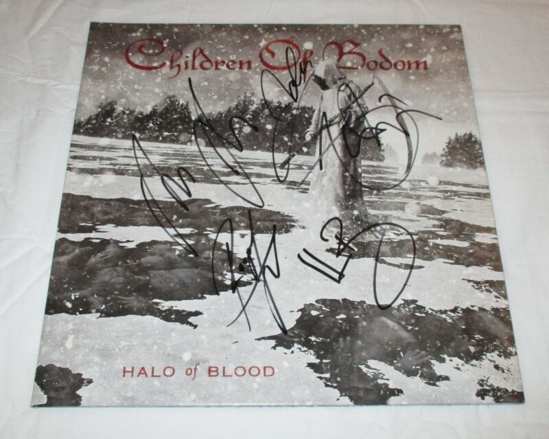 CHILDREN OF BODOM SIGNED HALO OF BLOOD VINYL RECORD