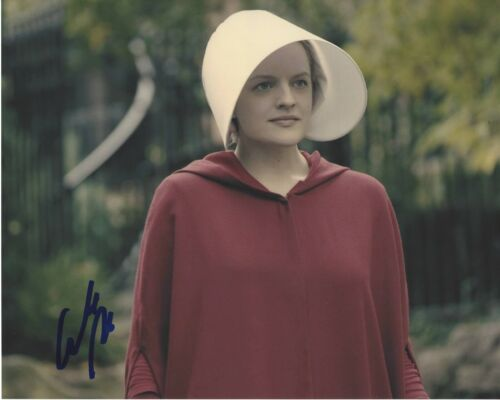 ACTRESS ELISABETH MOSS SIGNED 8x10 PHOTO C w/COA MAD MEN THE HANDMAID'S TALE
