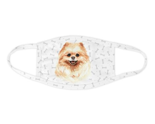 Watercolor Pomeranian Face Mask Washable Face Covering