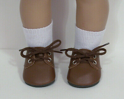BROWN Dress Up Casual Doll Shoes For 18