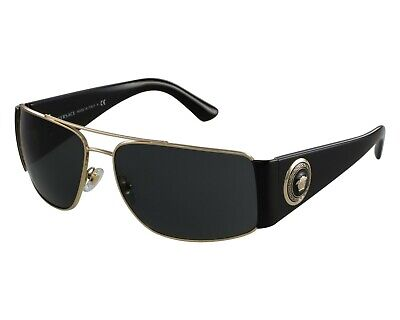 NWT VERSACE Sunglasses VE 2163 100287 63MM GOLD W GREY SUNGLASSES NIB