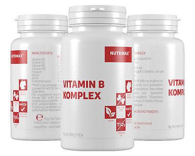 Nutrinax Vitamin B Komplex - 730 Vitamin B Tabletten hochdosiert Vitamin B6 B12