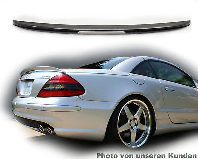 für Mercedes sl r230 spoiler roadster heckflügel tuning amg lip Schwarz 197 neu
