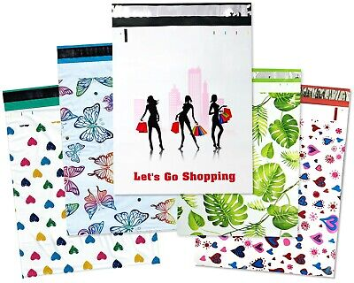 10-100 Pack 14x19 Designer Poly Mailers Large Mailing Bag Shipping Envelopes