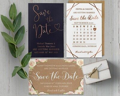 Save The Date Cards Wedding (Personalised Wedding Save the Date Cards with)