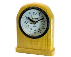 INFINITY : HANDMADE WOOD CASE ELEGANT STYLE TABLE ALARM CLOCK, BLACK HANDS