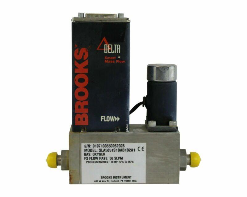 BROOKS DELTA SMART MASS FLOW CONTROLLER SLA5851S1BAB1B2A1 GAS O2