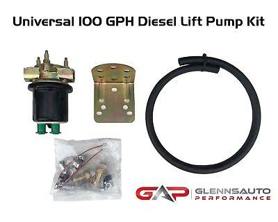 Universal High Volume Diesel Lift Pump Kit Or Auxiliary Lift Pump Kit - 100GPH Lift Pump Kit