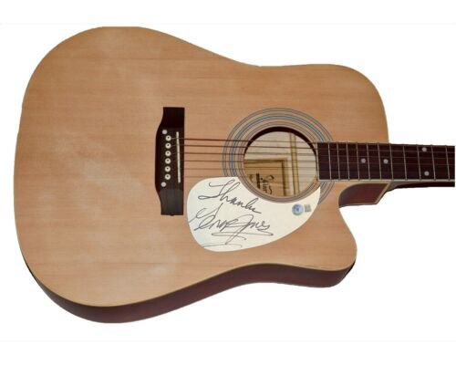 George Jones Signed Autograph Full Size Acoustic Guitar Country Star Beckett COA