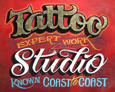 Tattoo Studio Print art ink artist