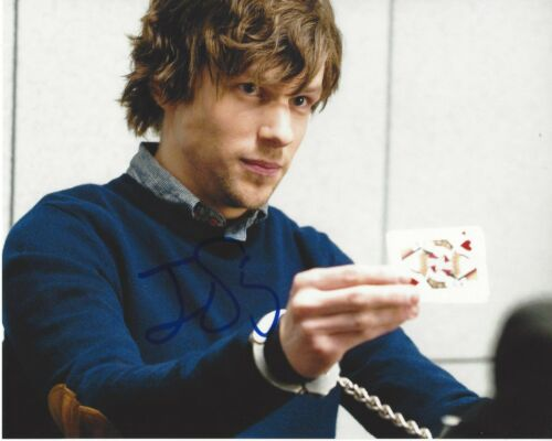 JESSE EISENBERG SIGNED 'NOW YOU SEE ME' 8x10 MOVIE PHOTO ACTOR B w/COA PROOF