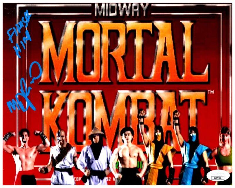 DANIEL PESINA signed 8x10 Photo MORTAL KOMBAT Game Johnny Cage Scorpion JSA