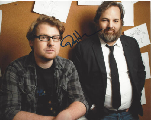 DAN HARMON - RICK AND MORTY COMMUNITY HARMONTOWN SIGNED 8X10 PHOTO COA PROOF