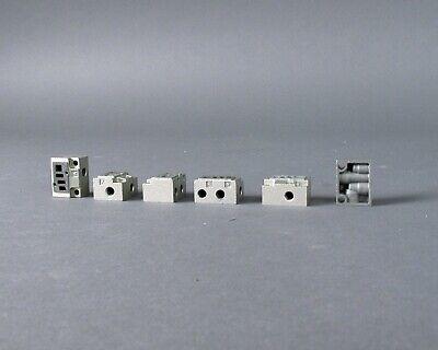 Lot Of 6 Smc Pneumatic Valve Subplates - Vj300-9-1