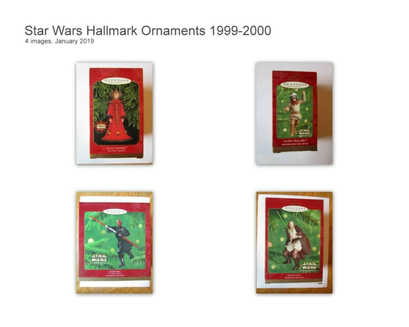 Hallmark Star Wars Keepsake Christmas Ornaments - 4 Ornaments - 1999-2001 NIB