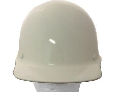 Msa Skullgard Cap Style White Fiberglass Hard Hat Ratchet Or Pin Lock Susp