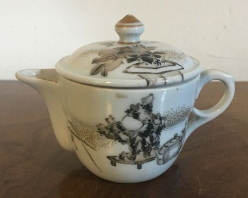 Antique 18th 19th century Chinese Porcelain Tea Pot Kangxi Taste