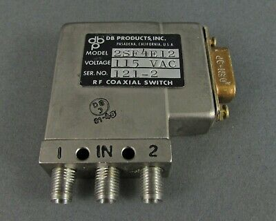 Db Products 2sf4e12 Rf Coaxial Switch - 115vdc D-sub