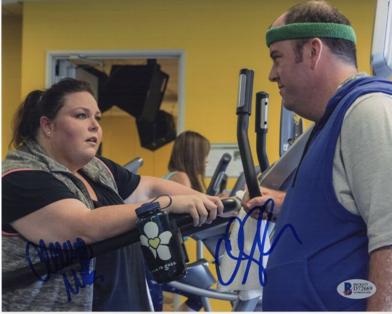 CHRISSY METZ CHRIS SULLIVAN SIGNED THIS IS US PHOTO 8X10 AUTOGRAPH BAS PSA