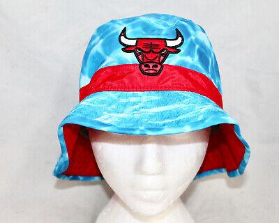 NWT MITCHELL & NESS Chicago Bulls Surf Camo Bucket Blue Size L/XL