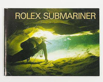 Original Rolex Submariner Booklet Circa 2001 for Sub and Sea Dweller Models!