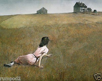 """Vintage Painting/Print/ Poster/Andrew Wyeth  """"Christina's World""""1948/16x20 inch"""