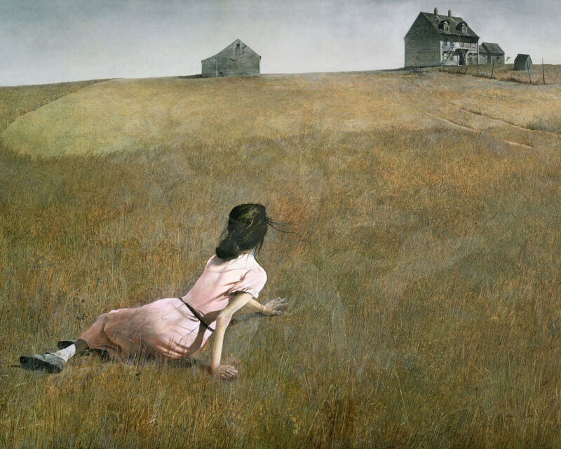 "Vintage Painting/print/ Poster/andrew Wyeth  ""christina"