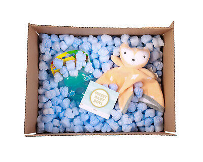 Funpak Packing Peanuts Blue Heart Shape 1.5 Cu Ft Bag Compostable Biodegradable