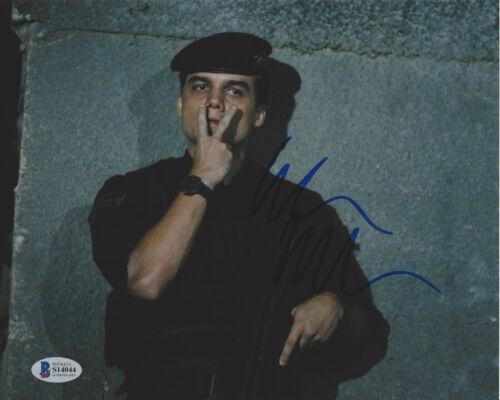 WAGNER MOURA SIGNED AUTHENTIC 'ELITE SQUAD' 8x10 PHOTO PROOF BECKETT COA BAS
