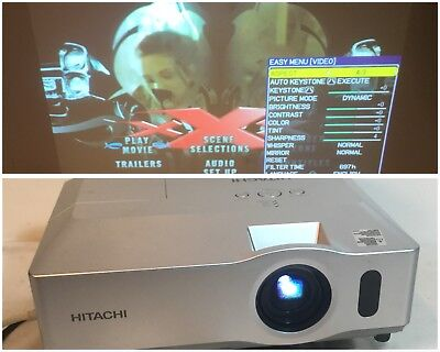 Hitachi CP-X306 LCD Projector W/ Working Lamp / Tested! 2600 Lumens