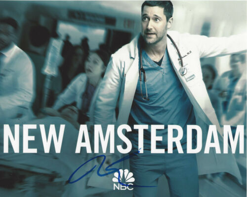 RYAN EGGOLD SIGNED AUTHENTIC 'NEW AMSTERDAM' DR. MAX 8x10 PHOTO B w/COA ACTOR