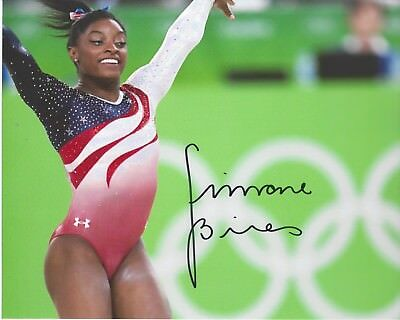 Simone Biles Signed 8 X 10 Photo Usa Gymnastics Olympics Medalist Free Shipping