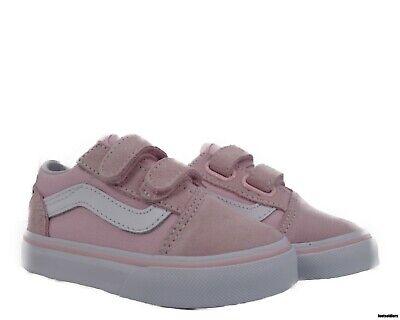 VN0A344KQ7K Vans Old Skool V (Chalk Pink/ True White) Toddler Shoes Size 6.5