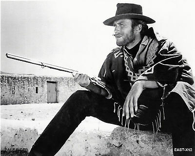 "Clint Eastwood   B&W 8""x10"" Photo "" PALE RIDER "" EAST-X12"